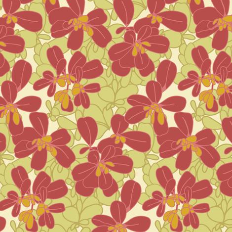 Purslane_Print_Light fabric by elizabethhalpern on Spoonflower - custom fabric