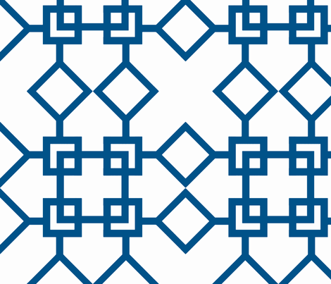 Climb the Trellis Navy fabric by honey&fitz on Spoonflower - custom fabric