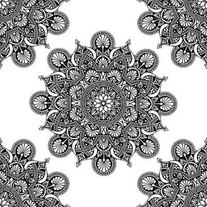 fortune mandala black and white