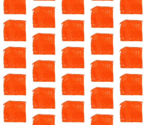 Orange Ink Check fabric by keska on Spoonflower - custom fabric