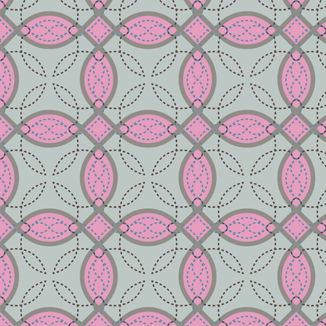 Applique_Pinks fabric by modernprintcraft on Spoonflower - custom fabric