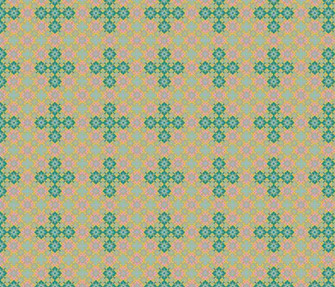 Modern Majestic - Pure Skies - Gothic Tile fabric by uzumakijo on Spoonflower - custom fabric