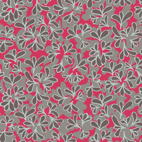 HollyAbstract_Red fabric by modernprintcraft on Spoonflower - custom fabric