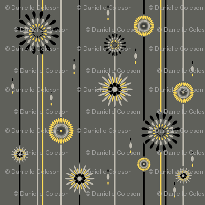 Canary Flowers and Stripes