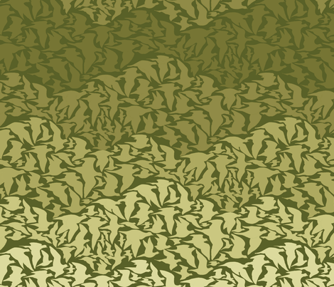 Flight of Pigeons (green) fabric by ceanirminger on Spoonflower - custom fabric