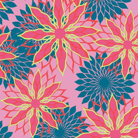 Flower Mix Print fabric by modernprintcraft on Spoonflower - custom fabric