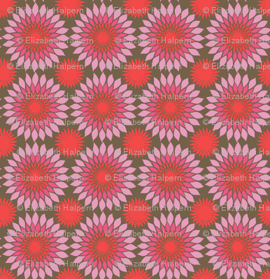Sunflower Block Print red mix