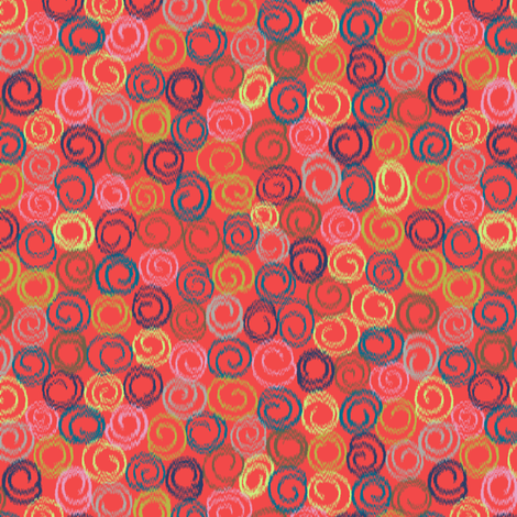 Swirly Ikat fabric by modernprintcraft on Spoonflower - custom fabric
