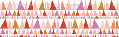 Christmas Tree Farm* (Reds & Pinks) || triangles stripes geometric abstract trees holiday