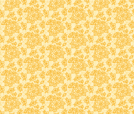 Old gold lace flower pale gold  fabric by victorialasher on Spoonflower - custom fabric