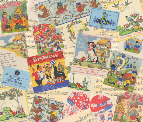 Vintage childhood fabric by peppermintpatty on Spoonflower - custom fabric