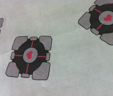 Companion Cube on White