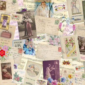 Vintage Romantic collage