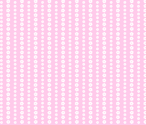 Pink Blossom Stripe fabric by shelleymade on Spoonflower - custom fabric