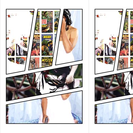 Comic BOOK angel fabric by viciousbeauty on Spoonflower - custom fabric