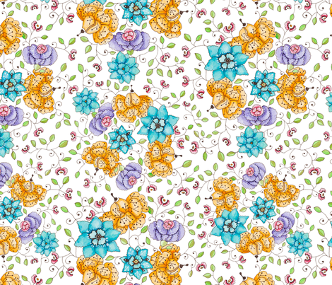 Floral Poetry fabric by petrakern on Spoonflower - custom fabric