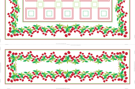 Sweet Cherry Table Topper fabric by jjtrends on Spoonflower - custom fabric
