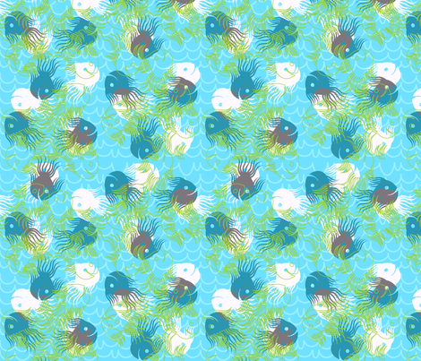 swimmingly fabric by glimmericks on Spoonflower - custom fabric