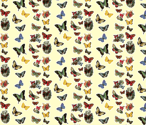 Butterflies fabric by flyingfish on Spoonflower - custom fabric