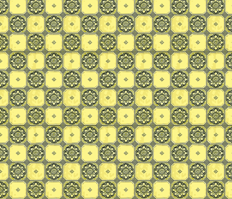 Sunflower Check fabric by flyingfish on Spoonflower - custom fabric