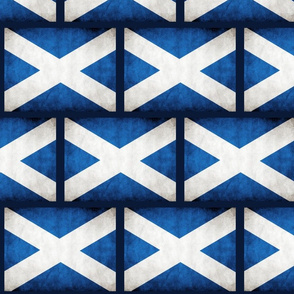 Scotland Flag; weathered