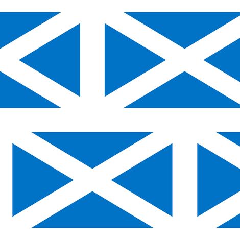 Scotland Flag fabric by rengal on Spoonflower - custom fabric
