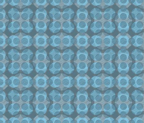 Blue Circles fabric by bojudesigns on Spoonflower - custom fabric
