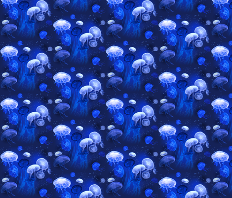 Jellyfish fabric by jenithea on Spoonflower - custom fabric
