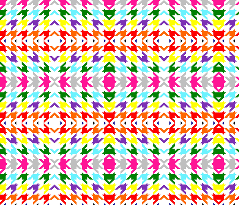 Psychedelic Houndstooth fabric by stitching_dvm on Spoonflower - custom fabric