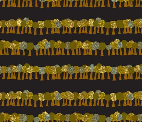 Tiny Trees fabric by erinina on Spoonflower - custom fabric