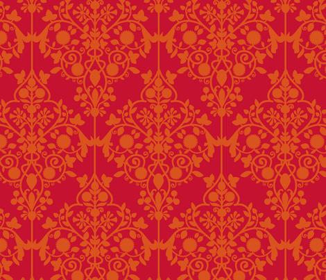 Persian Lattice raspberry fabric by flyingfish on Spoonflower - custom fabric