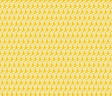 Geometric Flower - Mustard fabric by gobennygo on Spoonflower - custom fabric