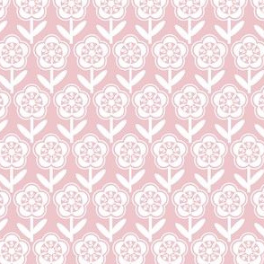 Geometric Flower - Blush