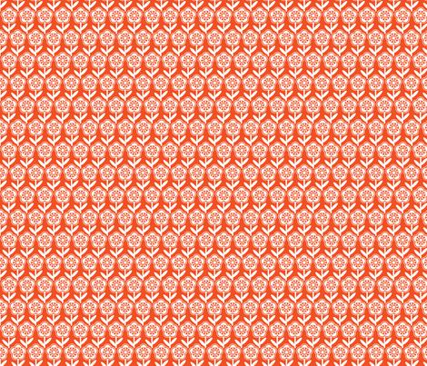 Geometric Flower - Orange fabric by gobennygo on Spoonflower - custom fabric