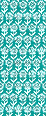 Geometric Flower - Turquoise