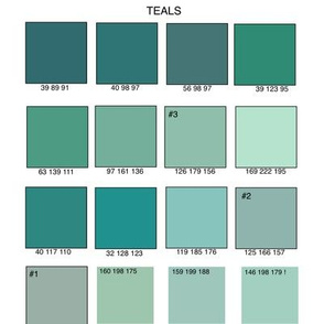 Teals by RBG  numbers