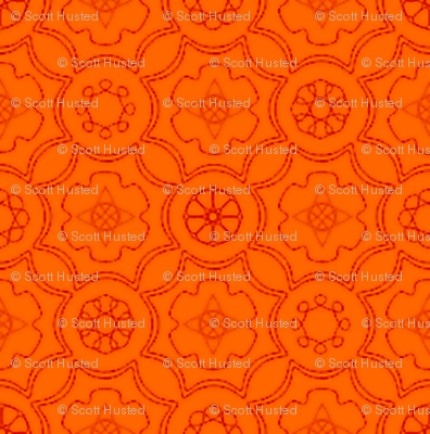 Compass & Wheel orange