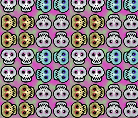 skulls4aspoon fabric by kimb_kreatures on Spoonflower - custom fabric