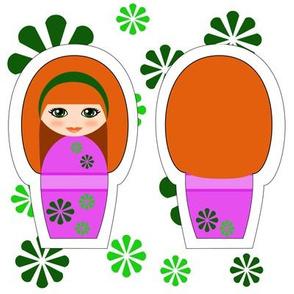 Kokeshi Ginger Swatch Toy