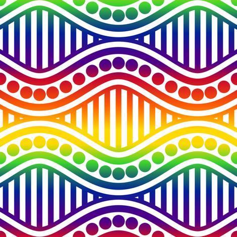 Wavy Stripe fabric by shala on Spoonflower - custom fabric
