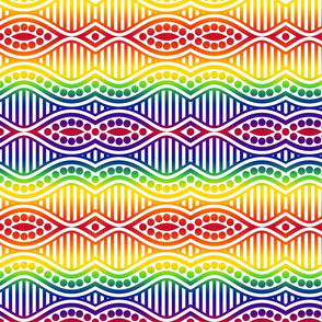 Rainbow Waves, Stripes and Dots-Light