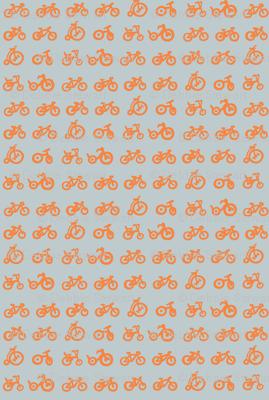 Multi Bike - Tangerine bikes with grey background