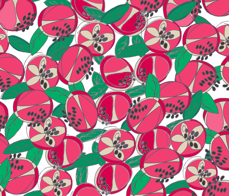 pomegranatemash fabric by maggiedee on Spoonflower - custom fabric
