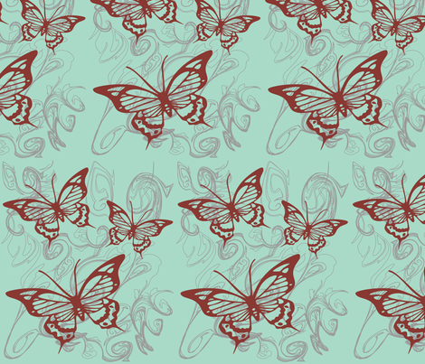 Butterfly Mist fabric by garwooddesigns on Spoonflower - custom fabric