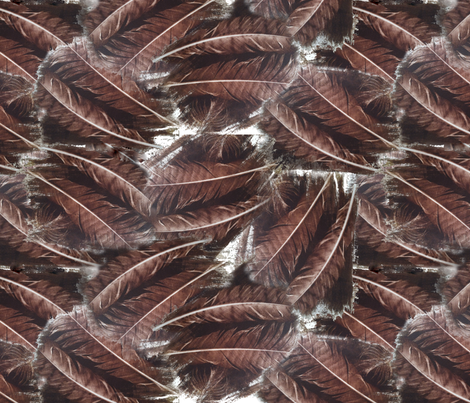 feathers fabric by trollop on Spoonflower - custom fabric
