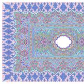 persian knot tea towel aqua