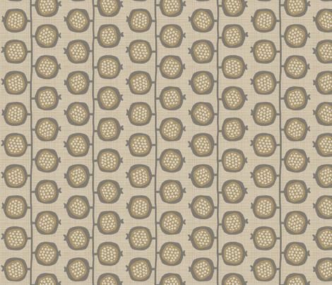 POMEGRANATES_TREE_beige fabric by glorydaze on Spoonflower - custom fabric