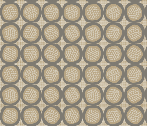 POMEGRANATES_beige fabric by glorydaze on Spoonflower - custom fabric