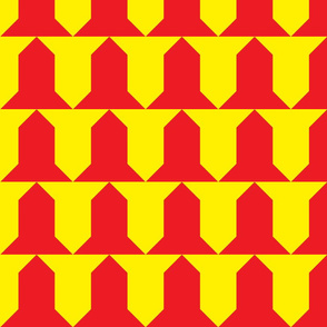Vairy-gules and or