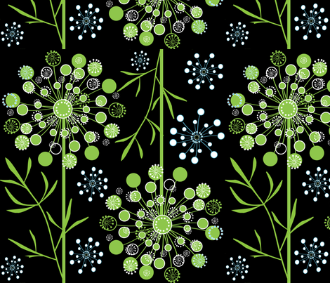 Queen Anne's Lace 1 fabric by sarah_nussbaumer on Spoonflower - custom fabric